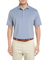 Peter Millar | Blue Basset Stripe Jersey Polo for Men | Lyst