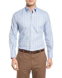 Peter Millar | Blue Regular Fit Highland Glen Plaid Sport Shirt for Men | Lyst