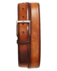 Saks Fifth Avenue | Brown Wind Leather Belt for Men | Lyst