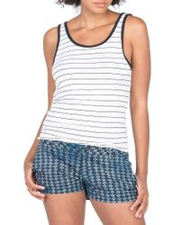 Volcom - White Second Chance Stripe Tank - Lyst