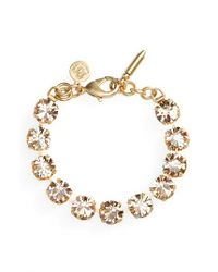 Loren Hope | Metallic Kaylee Crystal Bracelet | Lyst