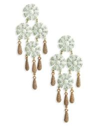 Loren Hope - Metallic Jasmine Chandelier Earrings - Lyst