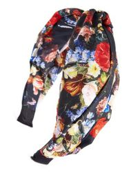 Cara | Blue Floral Knot Head Wrap | Lyst