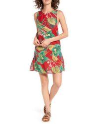 Roxy - Multicolor Cuba Print Shift Dress - Lyst