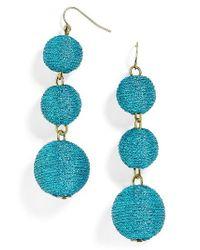BaubleBar | Blue Shimmer Crispin Drop Earrings | Lyst