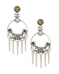 DANNIJO | Metallic Tukker Drop Earrings | Lyst