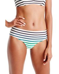 J.Crew - Blue Ombre Stripe Cali Hipster Bikini Bottoms - Lyst