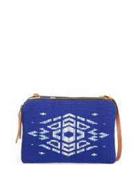 Mercado Global | Blue Andrea Canvas Crossbody Bag | Lyst