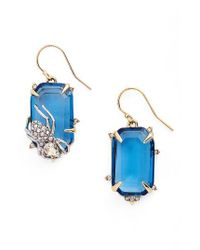 Alexis Bittar - Blue Encrusted Spider Drop Earrings - Lyst