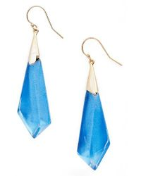Alexis Bittar | Blue Lucite Drop Earrings | Lyst