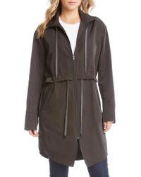 Karen Kane | Black All Weather Utility Jacket | Lyst