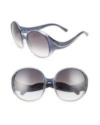 Chloé   Multicolor Nelli 59mm Gradient Lens Round Sunglasses - Gradient Blue/ Turtledove   Lyst