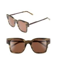 Karen Walker - Brown Julius 49mm Square Sunglasses - Horn - Lyst