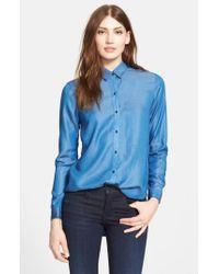 Ayr - Blue 'the Clean' Shirt - Lyst