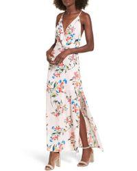 Nordstrom - Multicolor Surplice Maxi Dress - Lyst