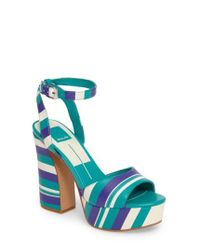 Dolce Vita | Blue Gavvin Stripe Platform Sandal | Lyst