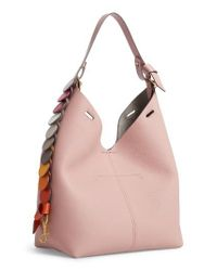 Anya Hindmarch | Pink Small Leather Hobo | Lyst