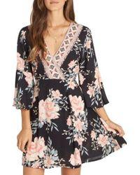 Billabong | Black Divine Floral Dress | Lyst
