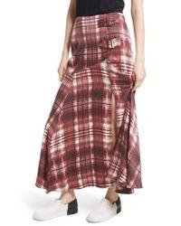 Free People   Black Season Of The Wind Midi Skirt   Lyst