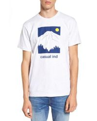 Casual Industrees - Blue Rainier T-shirt for Men - Lyst