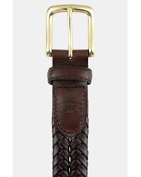 Fossil | Brown 'maddox' Leather Braid Belt for Men | Lyst