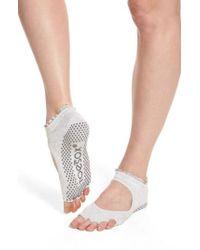 ToeSox | White Bella Half Toe Gripper Socks | Lyst