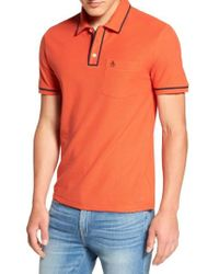 Original Penguin | Orange Earl Pique Polo for Men | Lyst