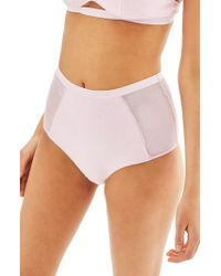 TOPSHOP - Purple Towelling Briefs - Lyst