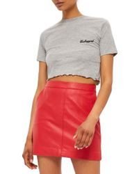 TOPSHOP - Gray By Tee & Cake Babygirl Crop Tee - Lyst