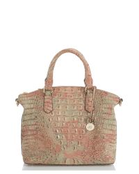 Brahmin - Brown 'medium Duxbury' Croc Embossed Leather Satchel - - Lyst