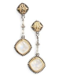 Konstantino - Metallic 'erato' Square Stone Drop Earrings - Lyst