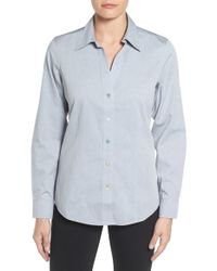 Foxcroft   Blue Non-iron Fitted Shirt   Lyst