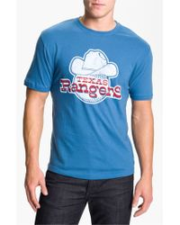 Wright & Ditson | Blue 'texas Rangers' Baseball T-shirt for Men | Lyst