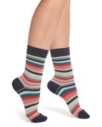 Paul Smith - Multicolor Clarissa Swirl Artist Stripe Crew Socks - Lyst