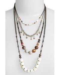 Nakamol - White Multistrand Necklace - Lyst