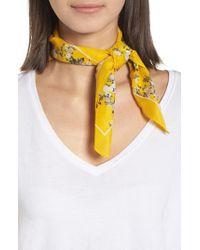 Rag & Bone - Yellow Garden Floral Bandana - Lyst