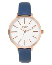 Breda - Multicolor Joule Round Leather Strap Watch - Lyst