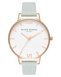 Olivia Burton - Metallic Leather Strap Watch - Lyst
