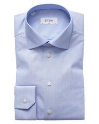 Eton of Sweden - Blue Slim Fit Dot Dress Shirt for Men - Lyst
