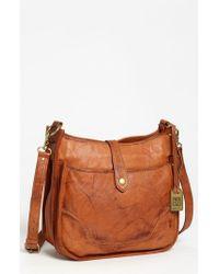 Frye   Brown 'campus' Leather Crossbody Bag   Lyst