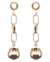 SHOSHANNA LEE - Metallic Orb Drop Chain Earrings - Lyst