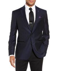 Ted Baker | Blue Jack Trim Fit Wool Dinner Jacket for Men | Lyst