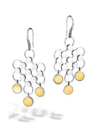 John Hardy | Metallic 'dot' Chandelier Earrings | Lyst