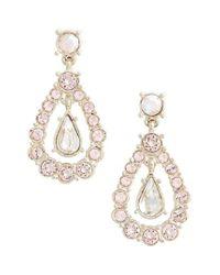 St. John | Metallic Swarovski Crystal Drop Earrings | Lyst