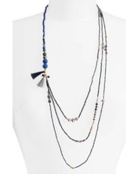 Nakamol - Blue Konia Multistrand Tassel Necklace - Lyst