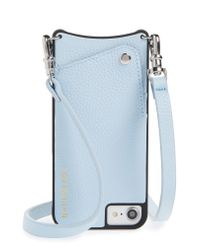 Bandolier - Blue Emma Leather Iphone 6/7/8 & 6/7/8 Plus Crossbody Case - Lyst