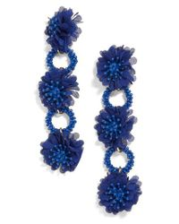 BaubleBar - Blue Vernita Flower Drop Earrings - Lyst