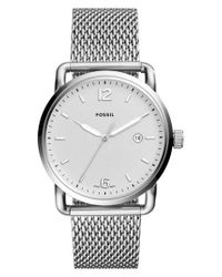 Fossil - Metallic The Commuter Mesh Strap Watch for Men - Lyst