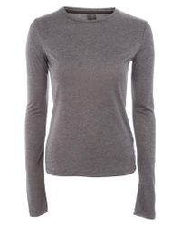 TOPSHOP - Gray Boutique Long Sleeve Tee - Lyst