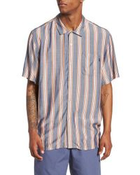 Obey - Blue York Woven Shirt for Men - Lyst